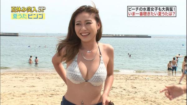 テレビに映った水着素人 8