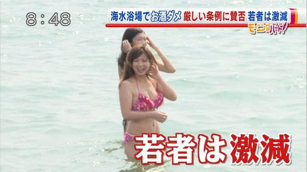 テレビに映った水着素人 13