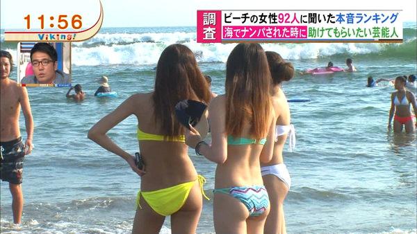 テレビに映った水着素人 29