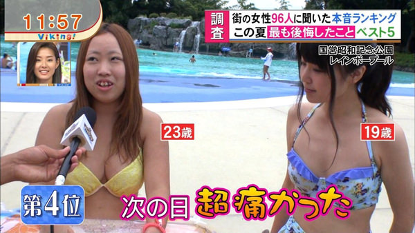テレビに映った水着素人 46