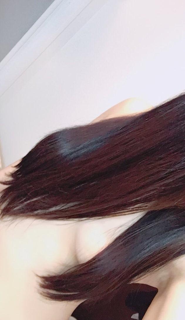 素人の髪ブラ自撮り 9
