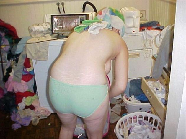 家庭内で撮った風呂上がりの素人 14