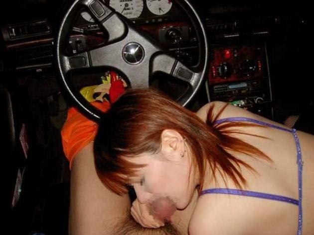 素人の車内フェラ 15