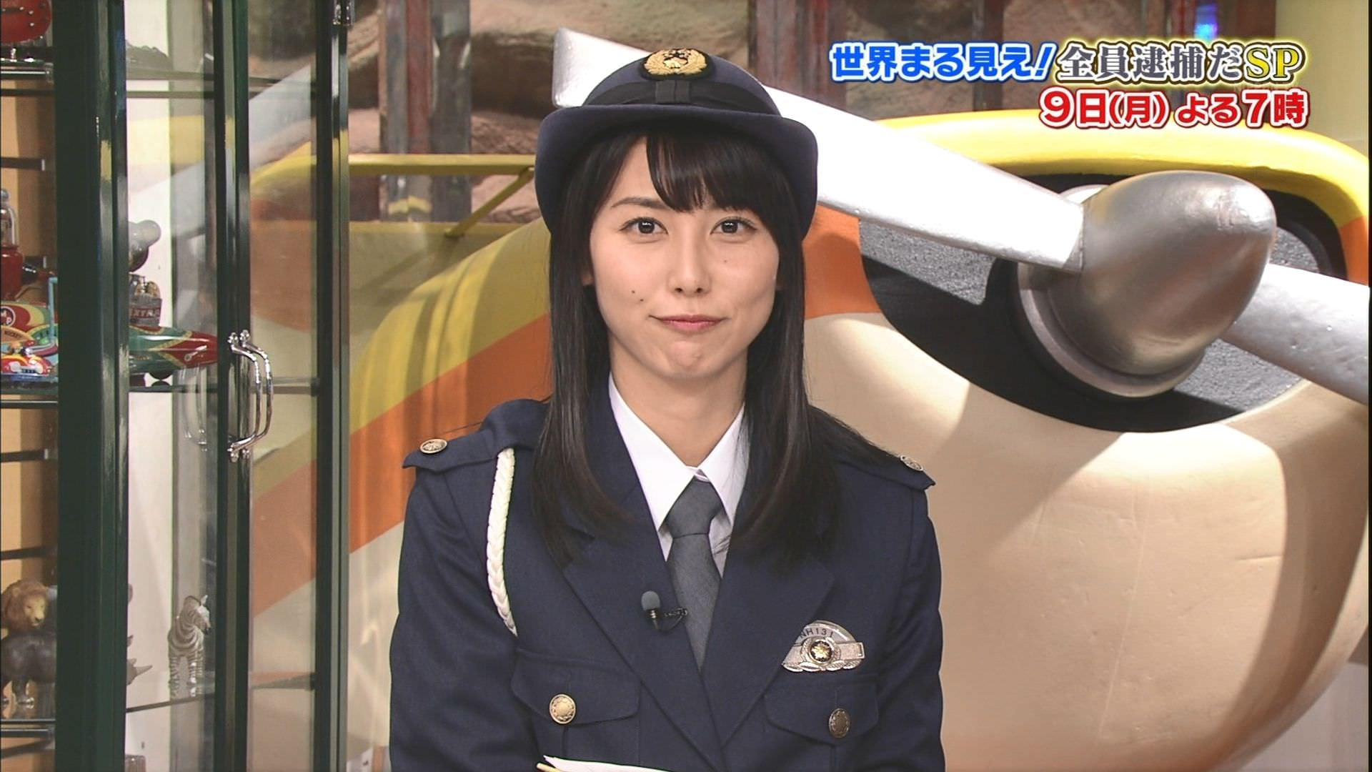 杉野真実アナの婦警コスプレが可愛すぎた『世界まる見え!テレビ特捜部』