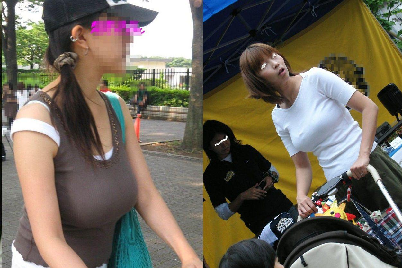 【人妻】子連れママの着衣巨乳!やたらとデカい産後のおっぱいw 画像22枚