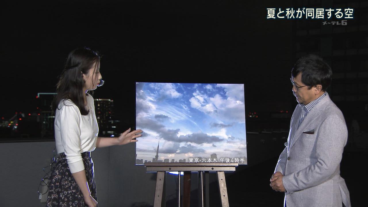 テレ朝・森川夕貴アナがブラなしで天気予報してると話題に。