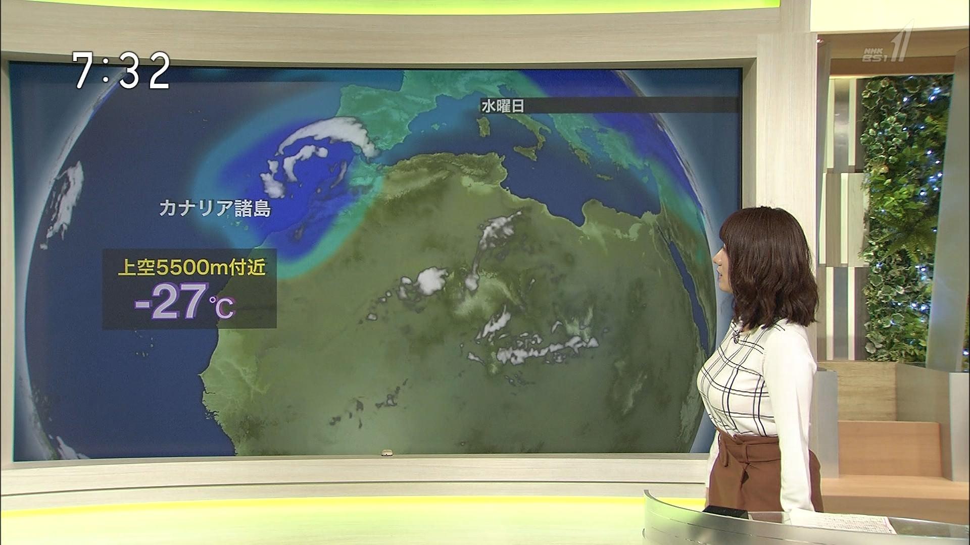 吉井明子 デカパイ気象予報士のサイクロンロケット乳色っぽい写真