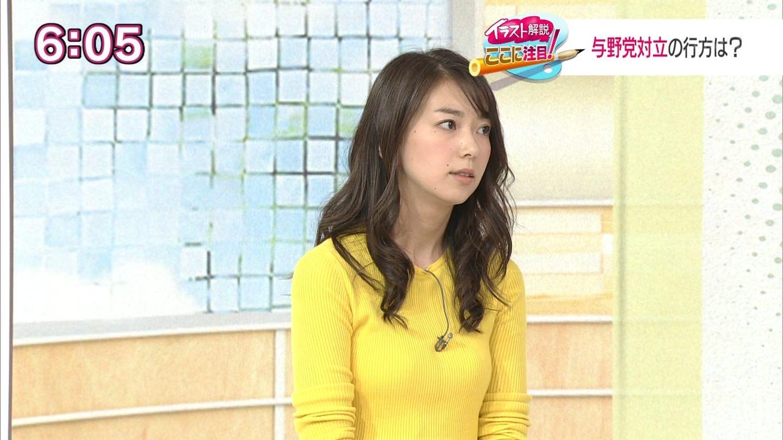 アナウンサーの頑張るニットお乳&美小さい乳ちっぱい色っぽい写真(NHK編)