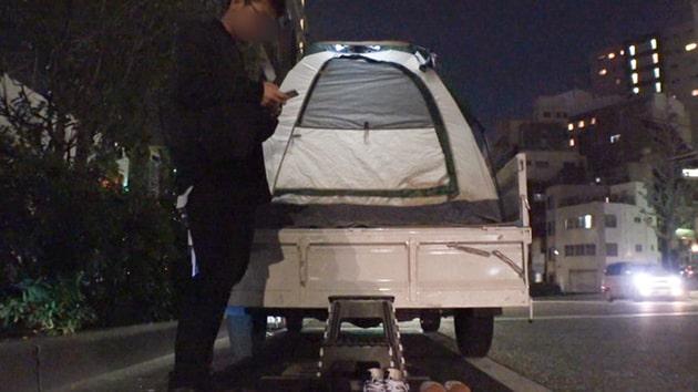 パコパコ女子大学トラックテントでバイト即ハメ旅Report.115_9