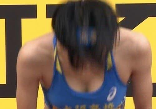 ゴールデングランプリ陸上2020、女子選手のおっぱい露出胸チラエロすぎ!!