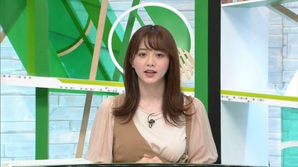 テレ東美人巨乳女子アナ森香澄、片乳だけやけに強調されている衣装で情報番組に出演