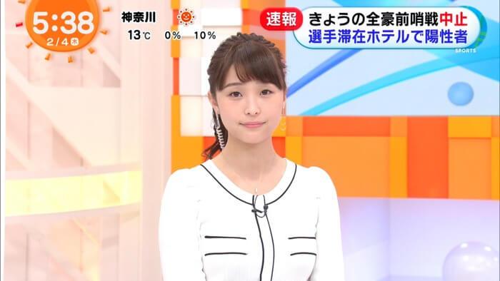 【画像】フジの渡邊渚アナがエッチ過ぎるデカパイ写真を投稿!