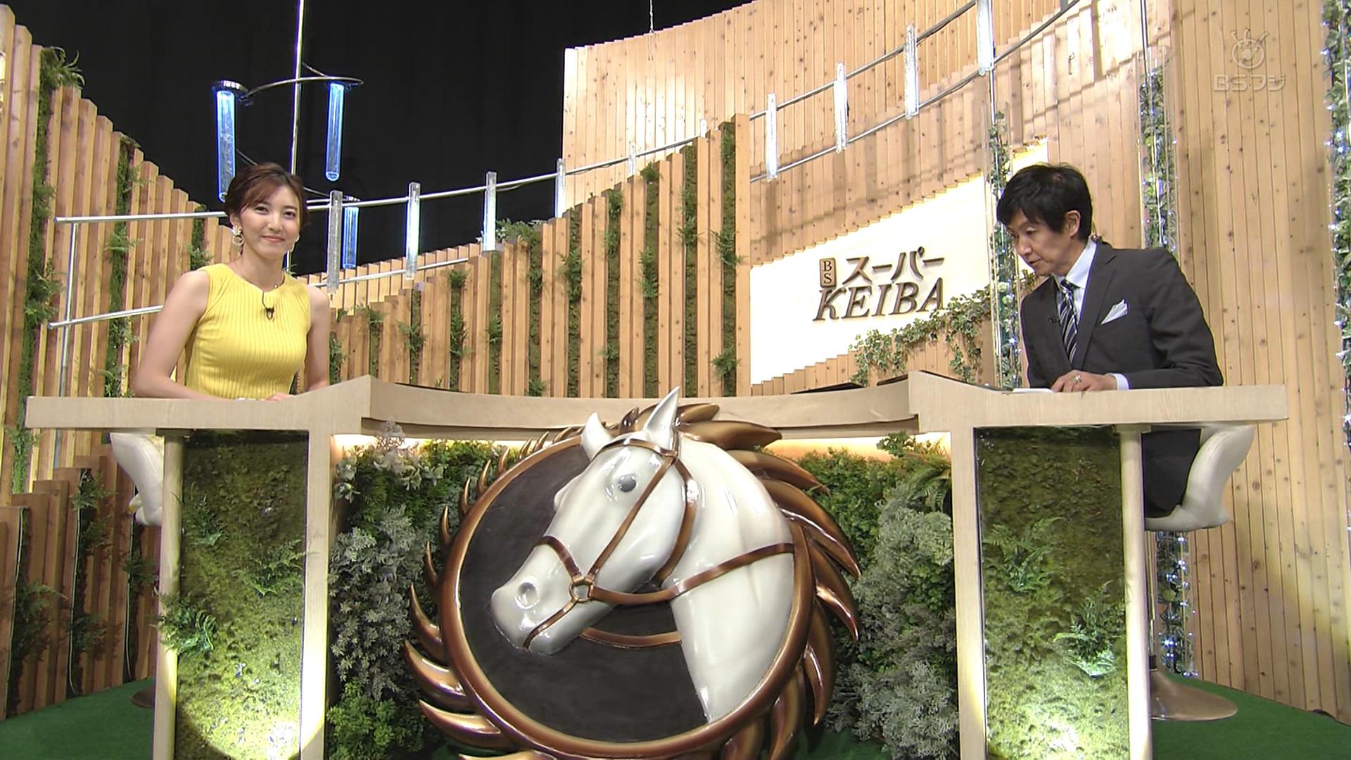 【画像】巨乳の小澤陽子さん、ノースリーブニットおっぱい